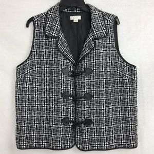 Christopher & Banks Button Front Vest